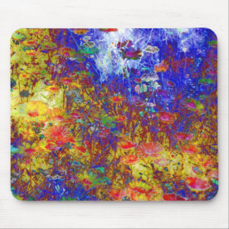 impressionist flower mouse mat mouse pad