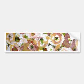 Impressionist Flowers Bumper Sticker