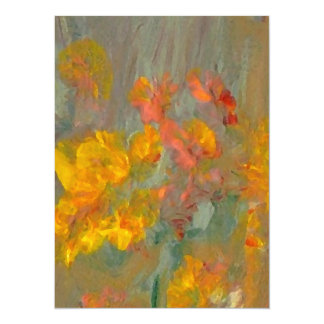 Impressionist Flowers Golds and Oranges Card