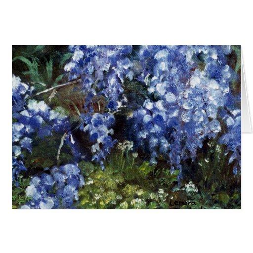 Impressionist FlowersWisteria Oil Painting Card