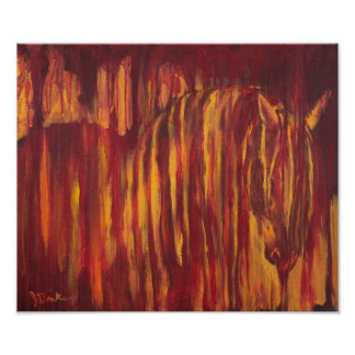 Impressionist Horse Painting Poster