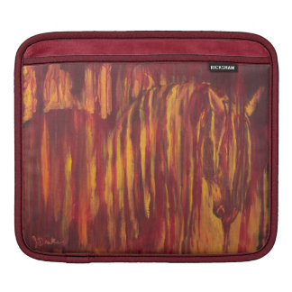 Impressionist Horse Painting Sleeve For iPads