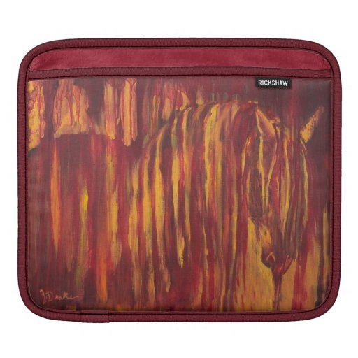 Impressionist Horse Painting Sleeves For iPads