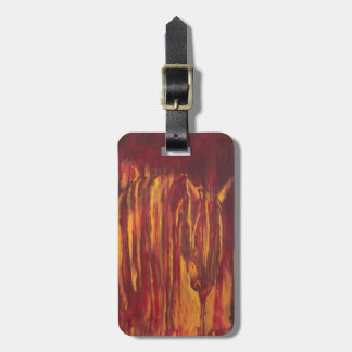 Impressionist Horse Painting Tags For Luggage
