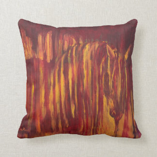 Impressionist Horse Painting Throw Pillow