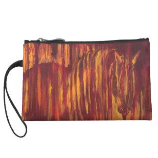 Impressionist Horse Painting Wristlet Wallet
