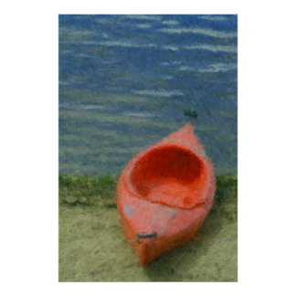 Impressionist Kayak Print