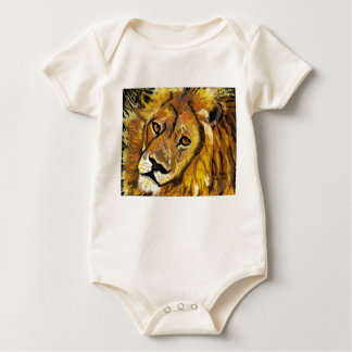 Impressionist Lion infantwear Baby Bodysuit