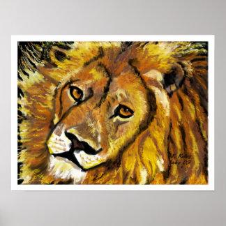 Impressionist Lion poster