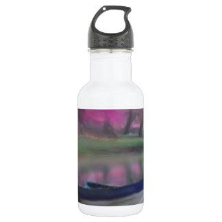 Impressionist Painting France boat landscape 18oz Water Bottle