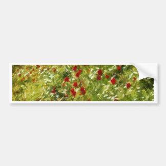 Impressionist Poppies Bumper Sticker