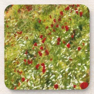 Impressionist Poppies Drink Coaster