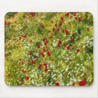 Impressionist Poppies Mouse Pad