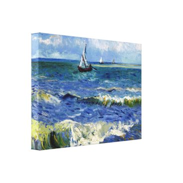 Professional Business Impressionist Sailboat on the Ocean Waves Canvas