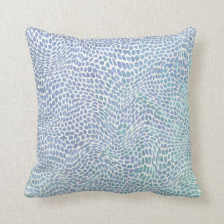 Impressionist Sea Glass Ocean Wave Swirl Pattern Throw Pillow