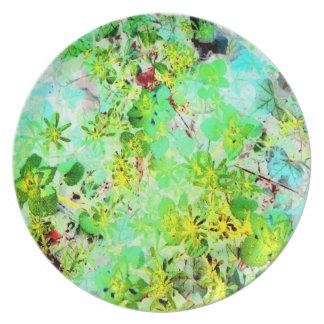 Impressionist Spring Garden Art Photo Wall Decor Plates