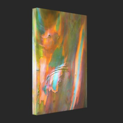 Impressionist-style Eucalyptus Bark Canvas Print