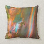 Impressionist-style Eucalyptus Bark Throw Pillows