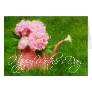Impressionist Style Peonies Mother's Day Card