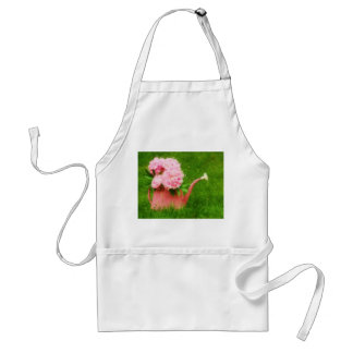 Impressionist Style Pink Peonies Adult Apron