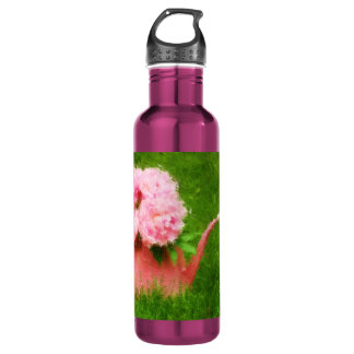 Impressionist Style Pink Peonies 24oz Water Bottle