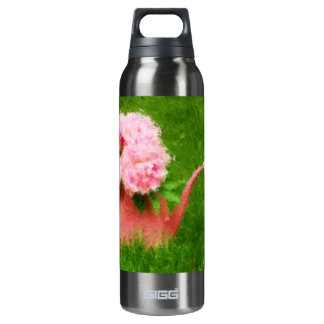 Impressionist Style Pink Peonies 16 Oz Insulated SIGG Thermos Water Bottle