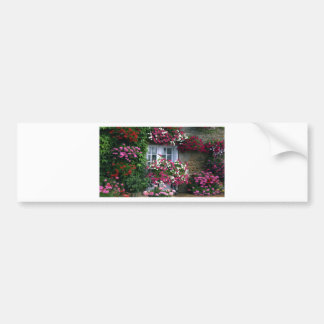Impressionist Summer flowers cottage Bumper Sticker
