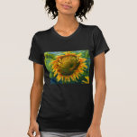 Impressionist Sunflower Face Tee Shirts