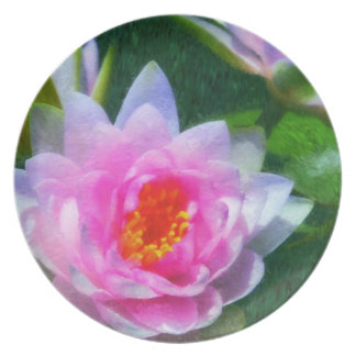 Impressionist Waterlilies Melamine Plate
