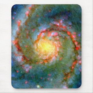 Impressionist Whirlpool Galaxy Mouse Pad