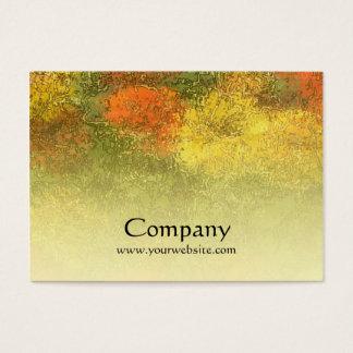Impressionist Zinnia Garden Business Card