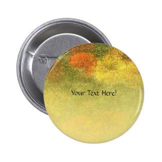 Impressionist Zinnia Garden Button
