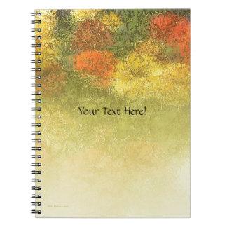 Impressionist Zinnia Garden Spiral Notebook