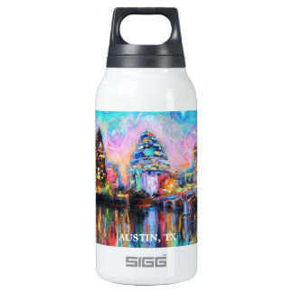 Impressionistic Austin Texas skyline Insulated Water Bottle
