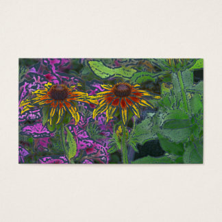 Impressionistic Brown-Eyed Susan Flowers Business Card