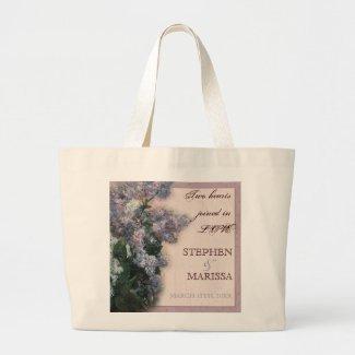 Impressionistic Lilacs - Bride Bridal Jumbo Tote bag