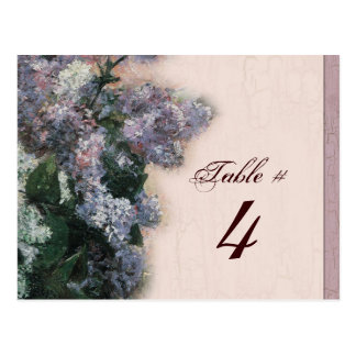 Impressionistic Lilacs - Table Number Card