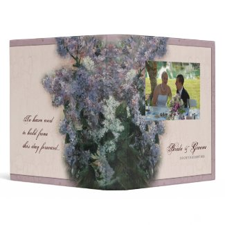 Impressionistic Lilacs - Wedding Binder binder