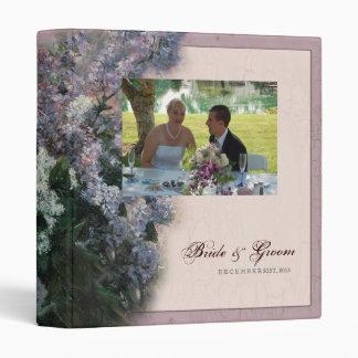 Impressionistic Lilacs - Wedding Binder