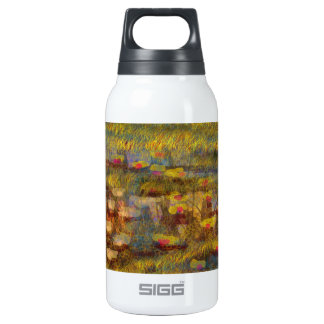 Impressionistic  Lilly Abstract Fine Art 10 Oz Insulated SIGG Thermos Water Bottle