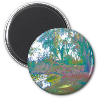Impressionistic One 2 Inch Round Magnet