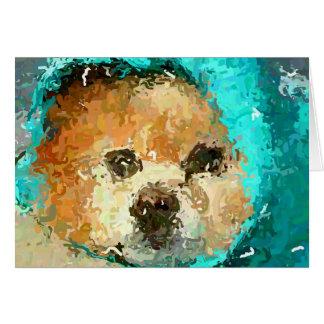 Impressionistic Pom Raincoat Card