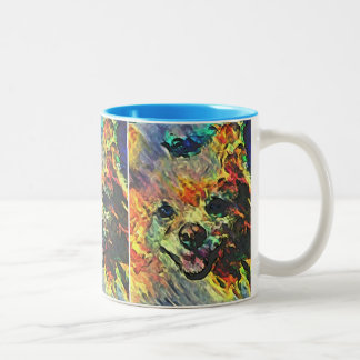 Impressionistic Pomeranian #2 Two-Tone Coffee Mug