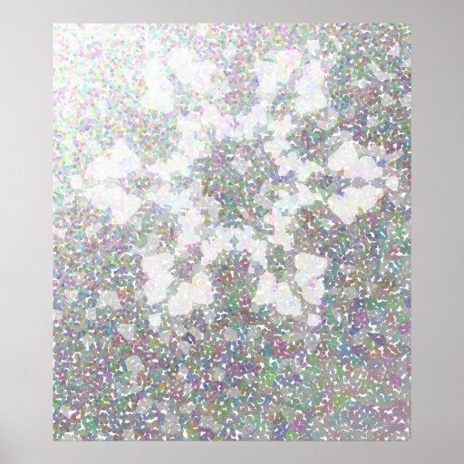 Impressionistic Snowflake Print