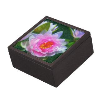 Impressionistic Water Lily Jewelry Box