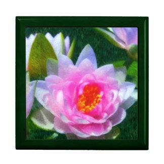 Impressionistic Water Lily Keepsake Box