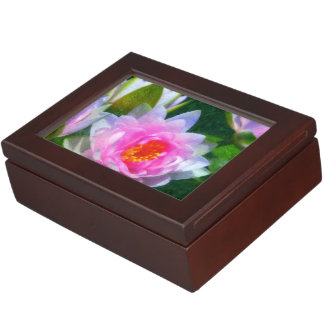 Impressionistic Water Lily Memory Box