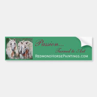 Impressionistic White Horses Bumper Sticker