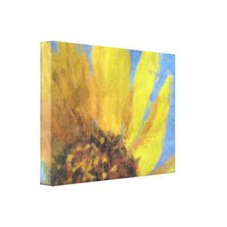 Impressions of a Sunflower Stretched Canvas Print