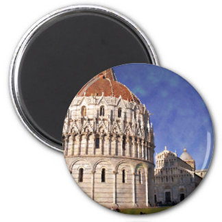 Impressitaly Pisa Battistero 2 Inch Round Magnet